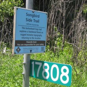 Songbird Side Trail Sign