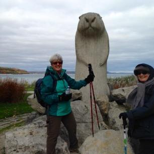Hikers with Wiarton Willie