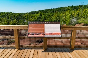 Cheltenham Badlands-Boardwalk and Interpretive sign