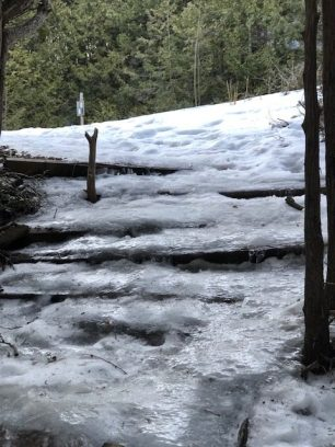 Icy Spring Conditions at the Devil's Pulpit image1