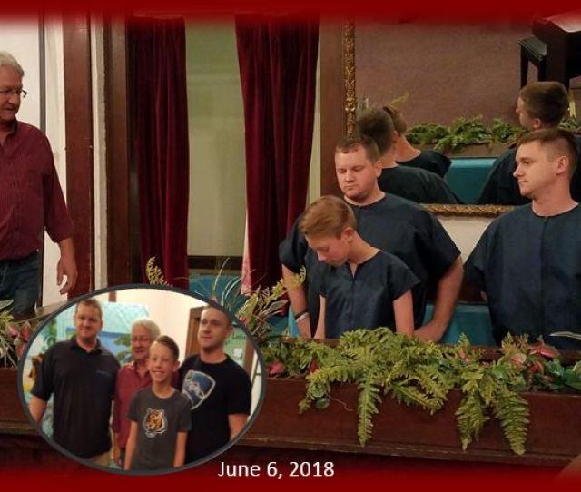 Baptism Of Jaxon Caudill By Robin Nick Brayden Vaughn