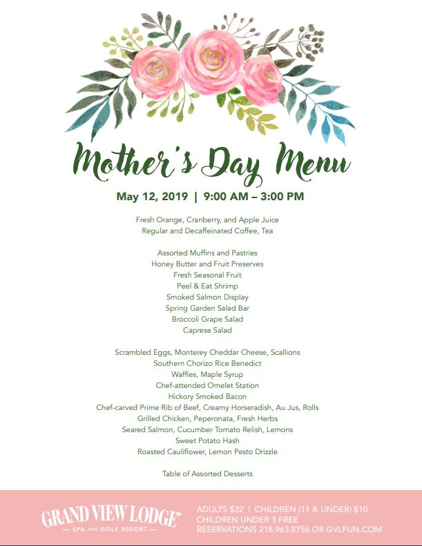 graphic regarding Free Printable Mother's Day Games for Adults known as Moms Working day Brunch at Grand Perspective Hotel Brainerd MN Lakes