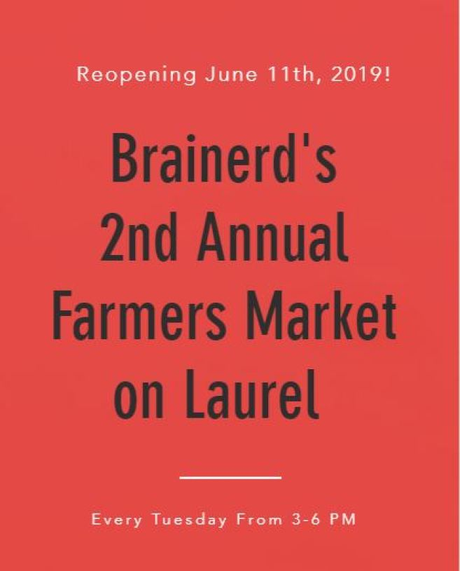 Brainerd's 2nd annual Farmers Market on Laurel.