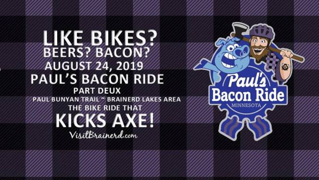 Flyer for Pauls Bacon Ride Part Deux.