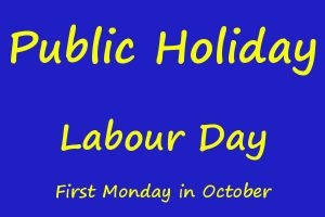 Public Holiday - Labour Day @ Australia