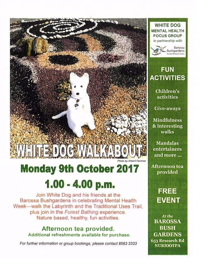 White Dog Walkabout Mental Health Focus Group 9th Oct 2017