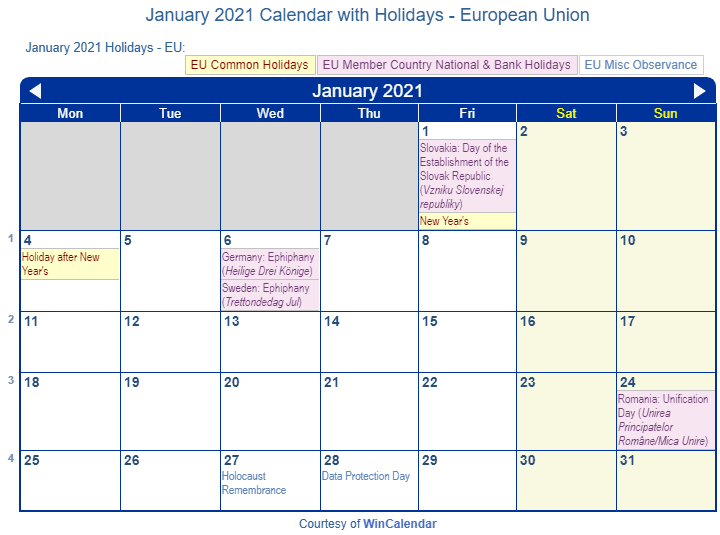 Image Result For Calendar With Holidays