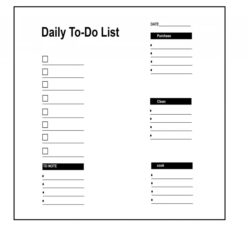 5 Printable Daily To Do List Templates
