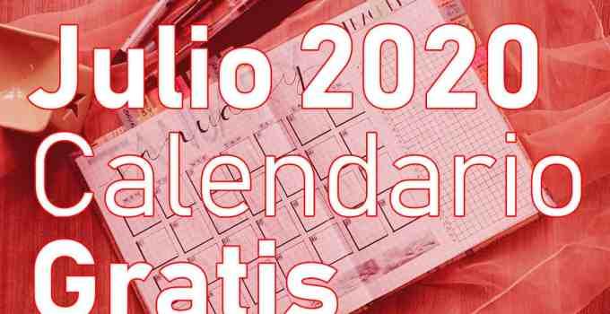 gratis calendario julio 2020