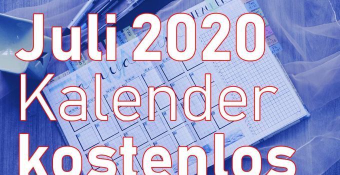 kalender juli 2020 free