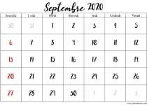 planning septembre 2020