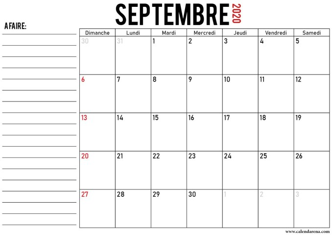 calendrier septembre 2020_notes