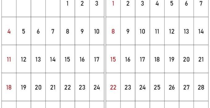 Kalender oktober november 2020
