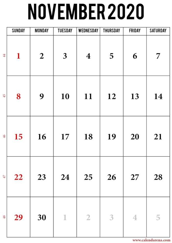 2020 november calendar_portrait