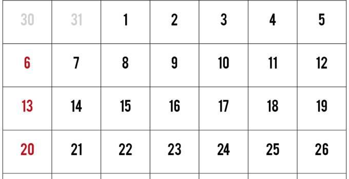 calendario de septiembre del 2020