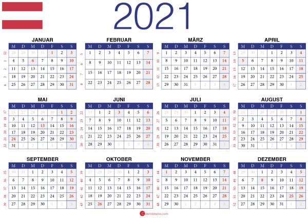 2021 Kalender AT