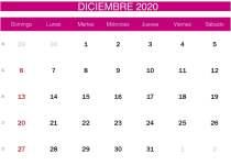 calendario rosa de diciembre de 2020-min