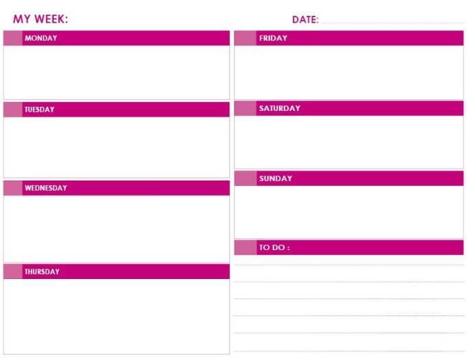 daily calendar landscape