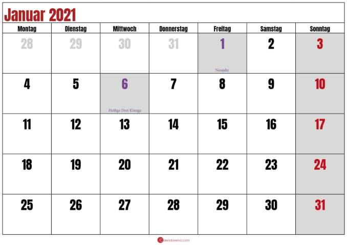 kalender januar 2021 pdf