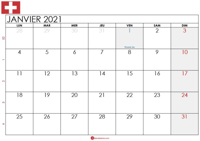 Calendrier Janvier 2021 suisse_2