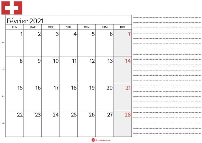 Calendrier fevrier 2021 suisse_note