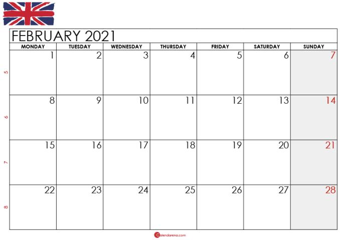 February 2021 Calendar