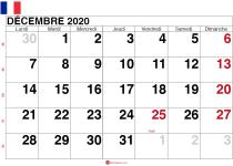 calendrier decembre 2020 France_grand