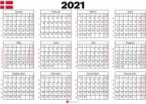 kalender 2021 til print