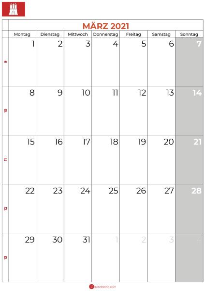 märz 2021 kalender hamburg