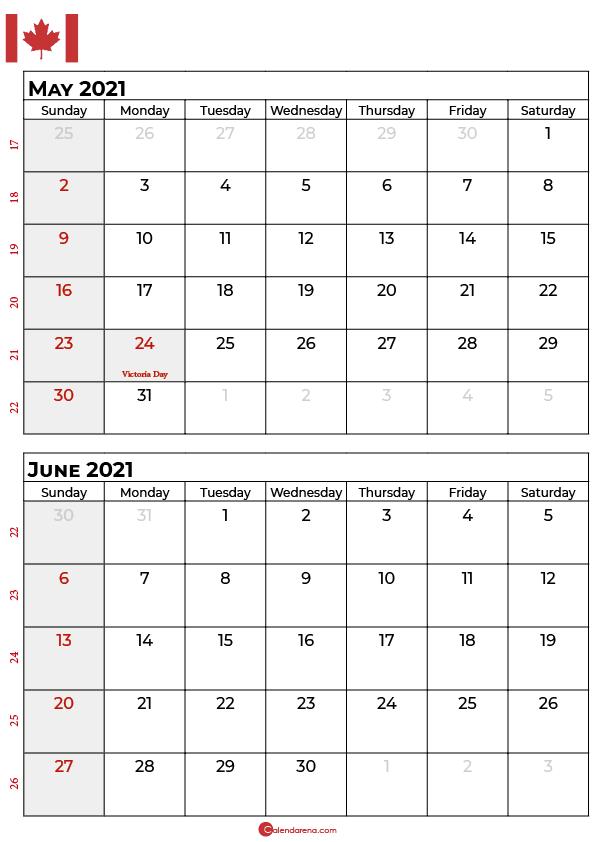 may june 2021 calendar