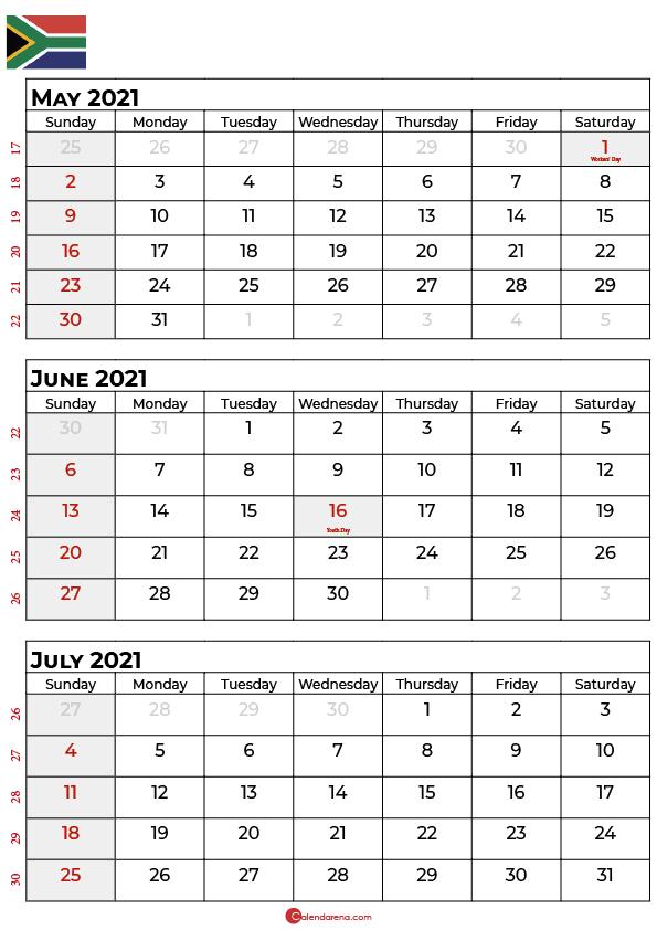 may june july 2021 calendar sa