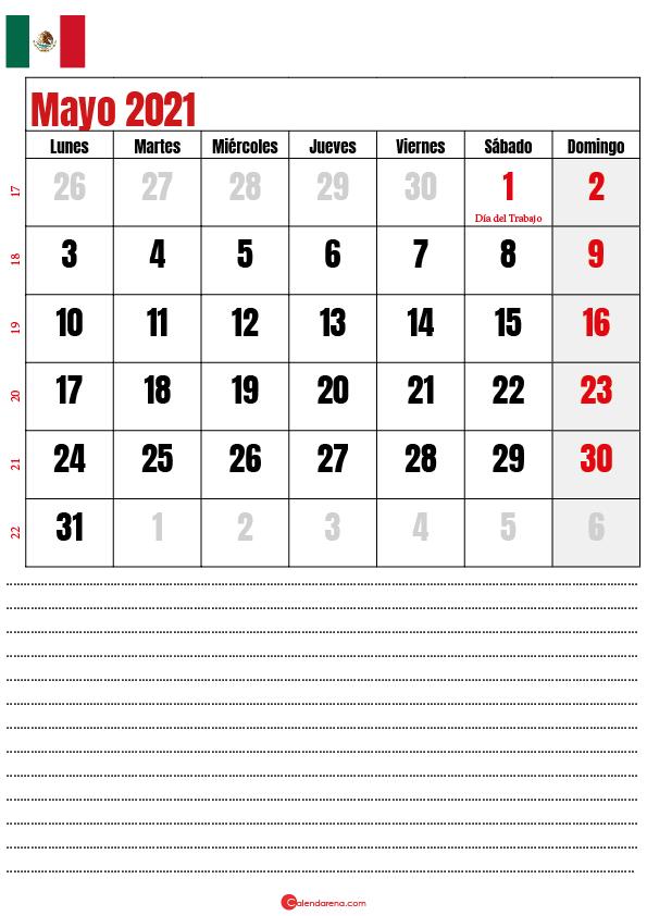 mayo 2021 calendario mexico2
