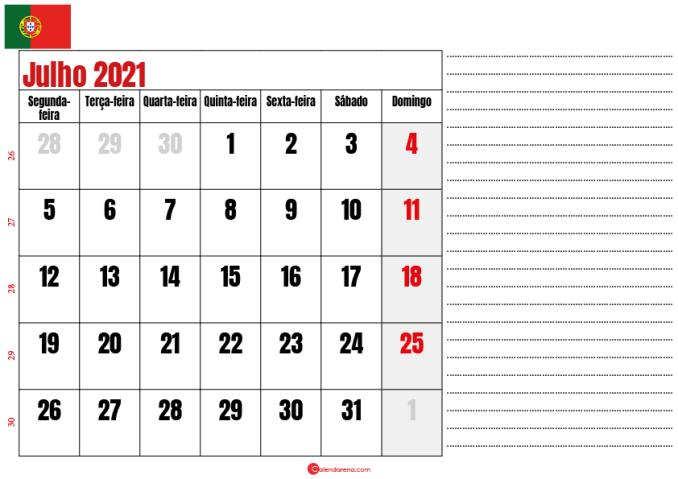 calendario julho 2021 para imprimir portugal