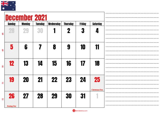 printable december 2021 calendar au