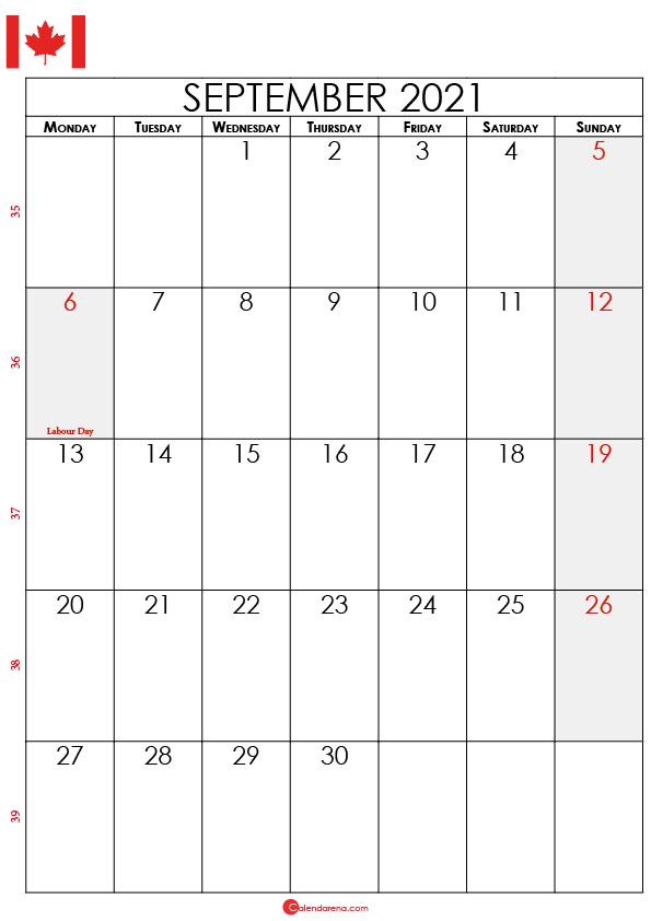 september calendar 2021 ca