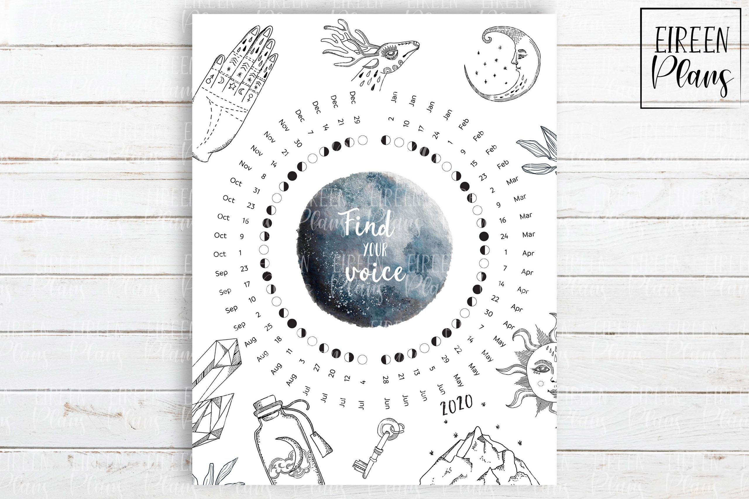 Take Full Moon Calendar Printable