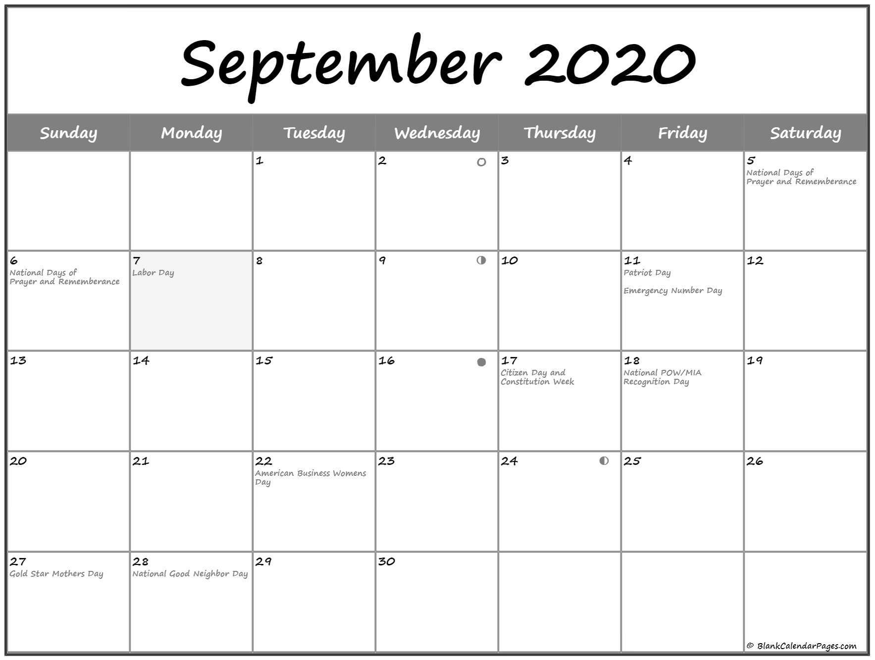 Get Moon Phases September