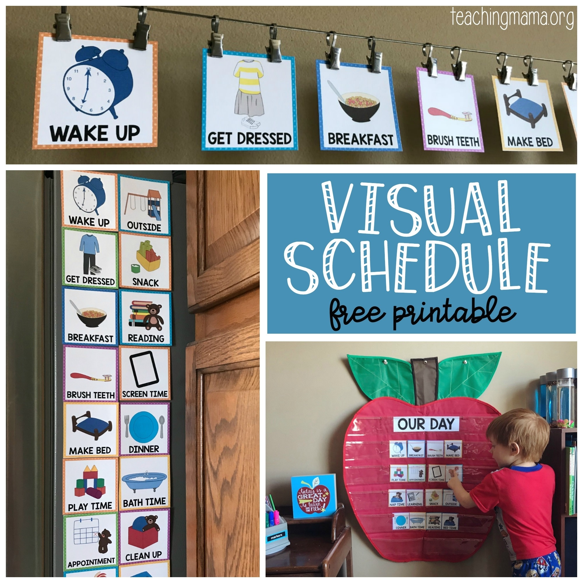 Free Printable Picture Schedules For Children