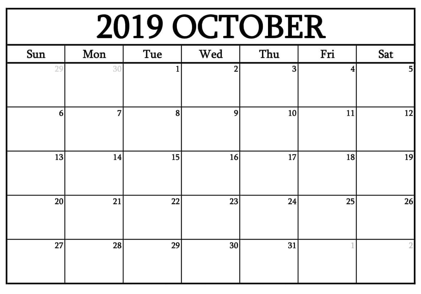Free Printable Calendar In Excel
