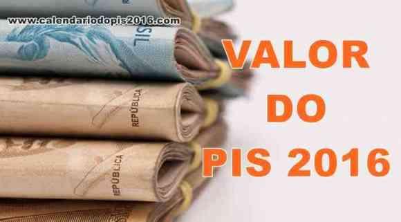 Valor do PIS 2016