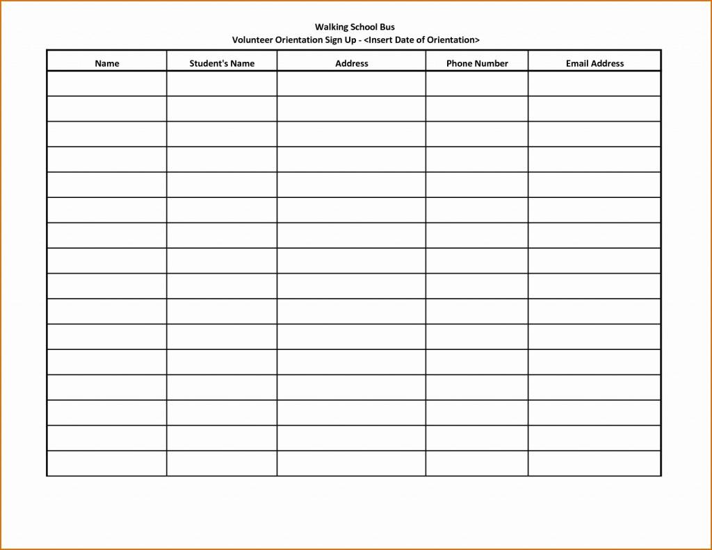 Free Printable Volunteer Calendar