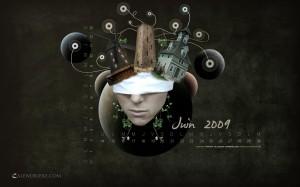 calendrier wallpaper juin 2009