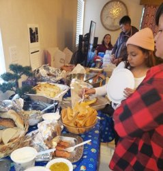 Jewish Holiday Hanukkah Celebrated With Traditional Foods