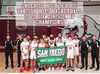 Calexico Bulldogs Basketball Champs
