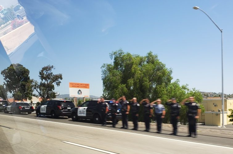 Full Procession For ECPD Officer Efren Coronel
