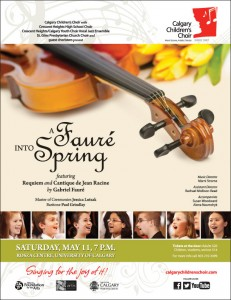 The poster for our Spring 2013 Concert!