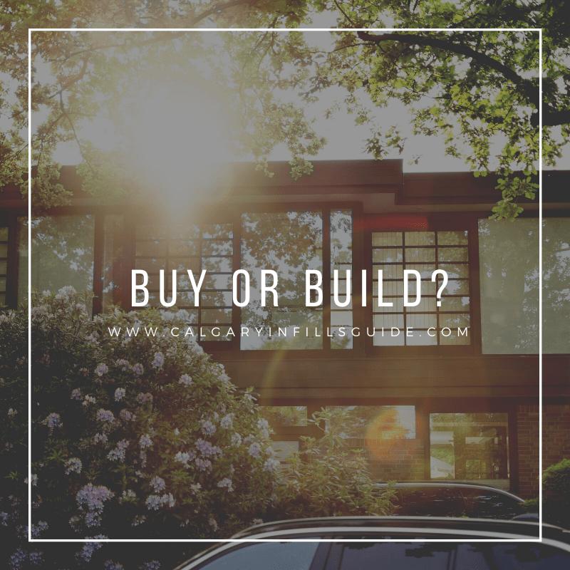 Buy vs build new infill