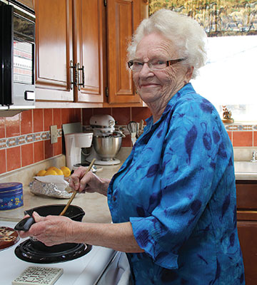 Elsie Janes enjoys baking for more than 20 of her Westgate neighbours, bringing them homemade baking on a daily basis as her way of helping out around the community.