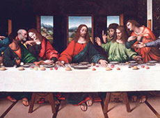 Faithful copy: the Italian painter Giampietrino, who was a student of Leonardo's painted this reproduction of the Last Supper in 1520. As King shows in his book, it has survived to the present in considerably better shape than Leonardo's original.