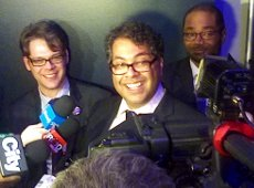 Incumbent mayor Naheed Nenshi was re-elected by a large margin in Monday's election